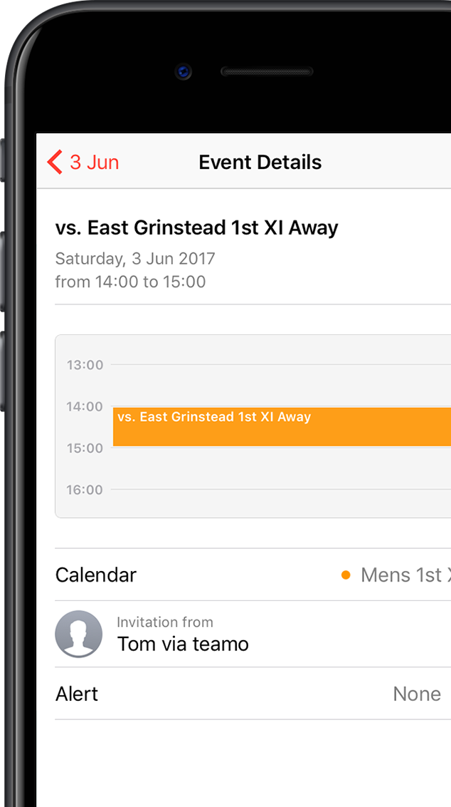 sync your fixtures to your phone calendar